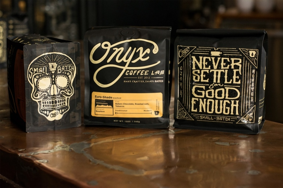 Typography Coffee packaging
