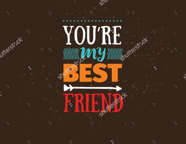Typography Friendship Day Vector