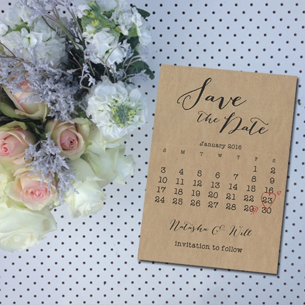 Unique Stationary Wedding Calendar