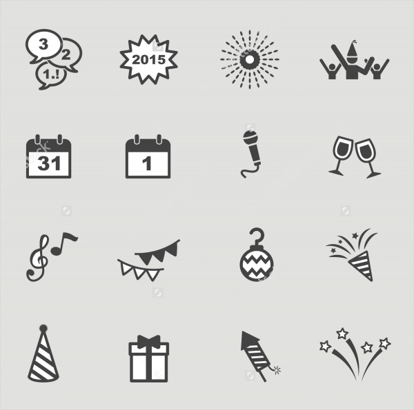 Vector New Year Icons