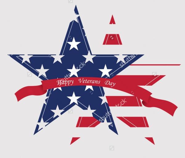 Veterans Day Star Cartoon Clipart