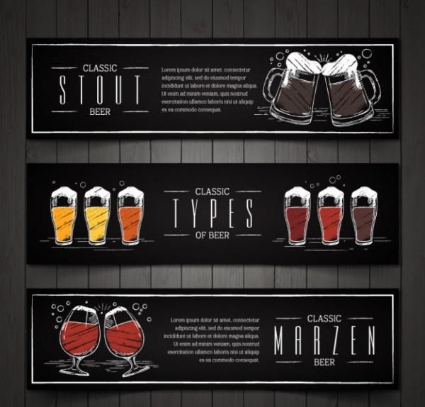 Vintage Hand-painted Beer Banners