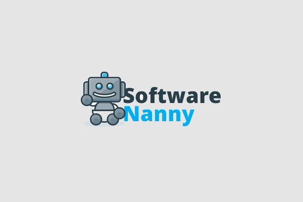 Vintage Robot Software Logo