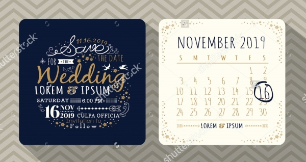 Vintage Wedding Floral Design Calendar