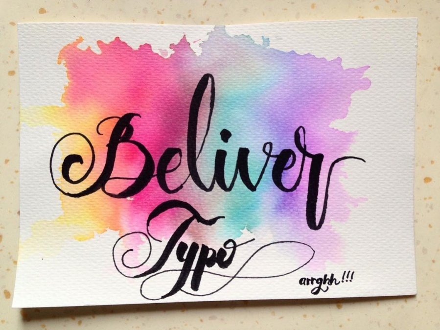 Water Color Prismatic Typography