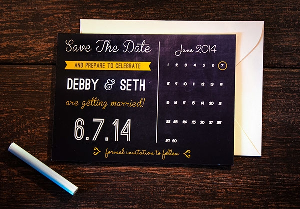 Wedding Calendar On Wooden Background