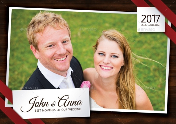 Wedding Desktop Calendar