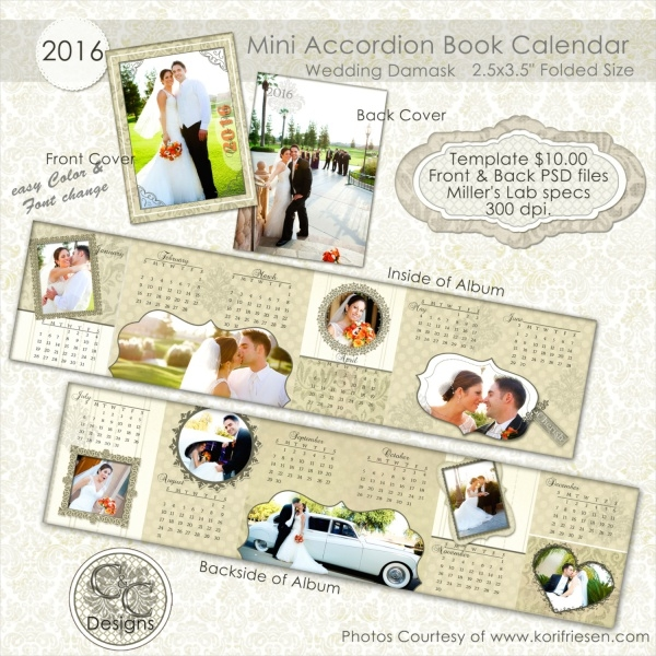 Wedding Planner Mini Book Calendar