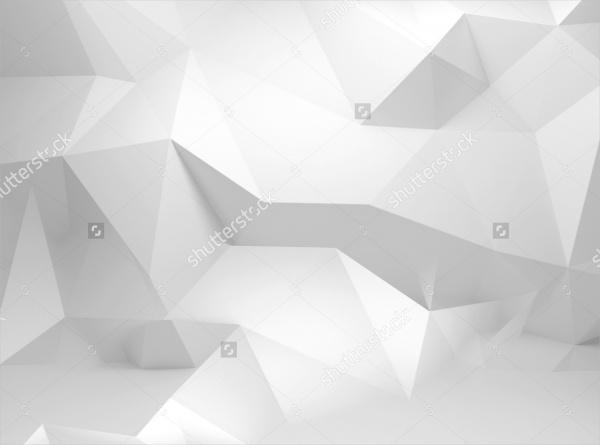 White Geometric Polygon Pattern Design