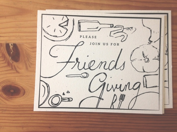 Wooden Friendsgiving Party Invitation