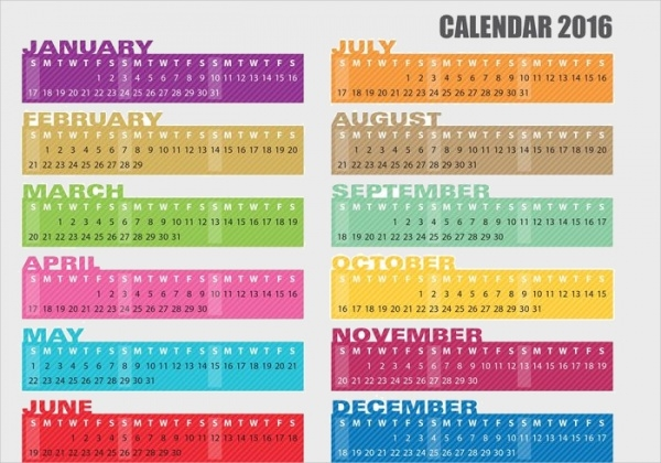 Yearly Calendar Banner Template