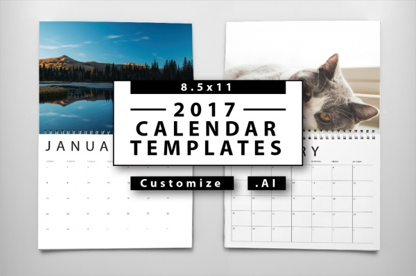 Yearly Desk Calendar Template