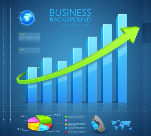 chart diagram with infographic vector