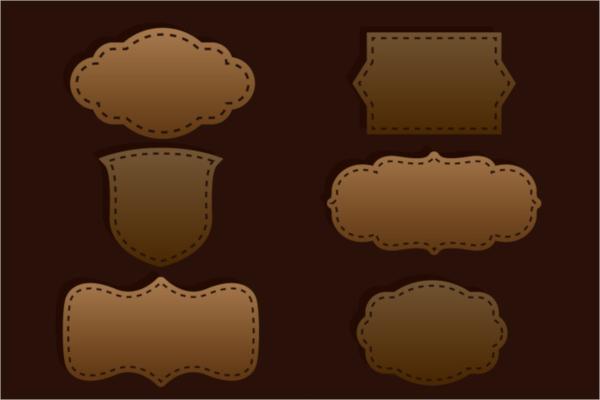 dark brown label template