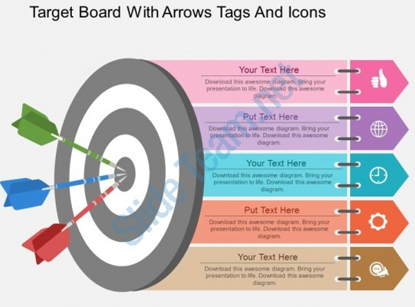 ew Target Board Sales Flat Powerpoint Design