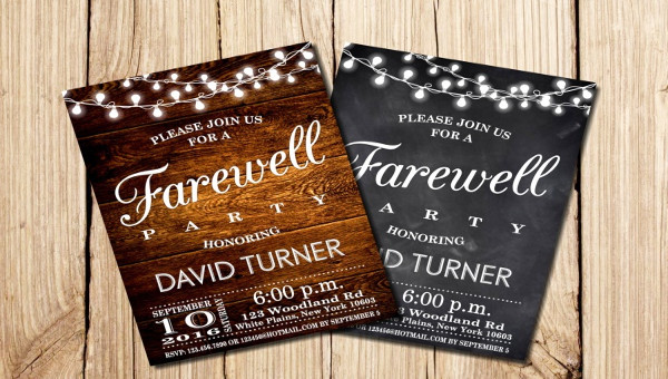 17  farewell invitations