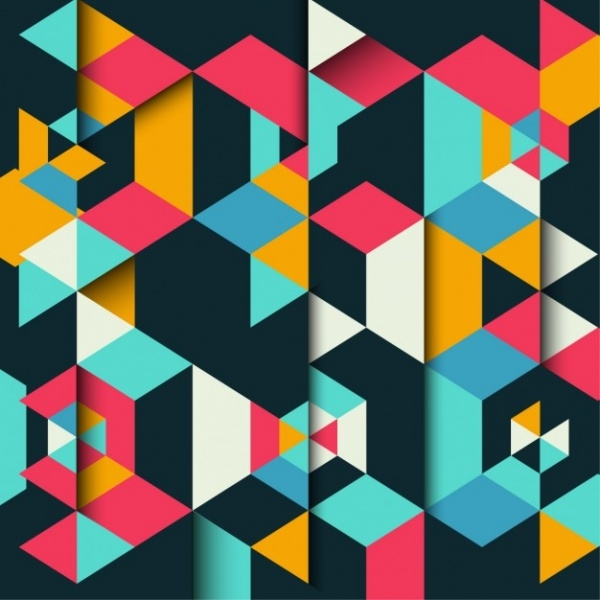 21 polygon patterns psd jpg ai illustrator download