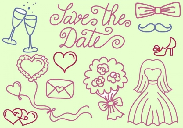 hand drawn wedding planner