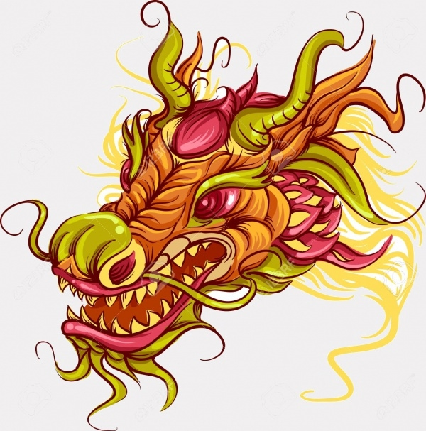 head of a Chinese dragon Clipart