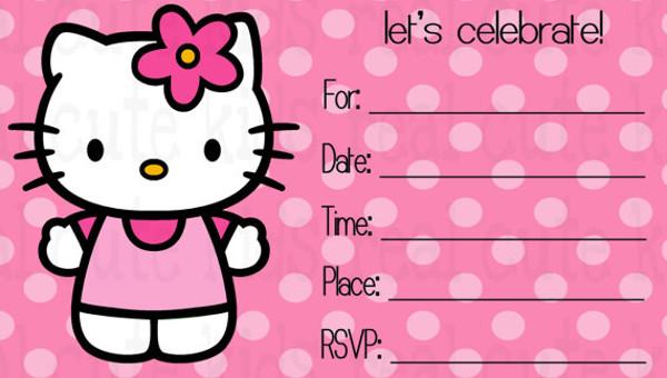 17 Creative Hello Kitty Invitation Designs Jpg Psd Eps Ai