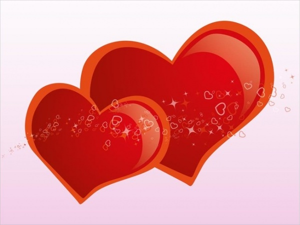 shiny hearts love design clip art