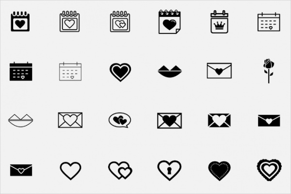 thin Outlined Anniversary Icons