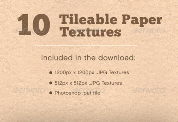 10 Tileable Paper Texture