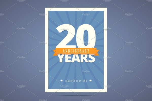 20th Anniversary Card
