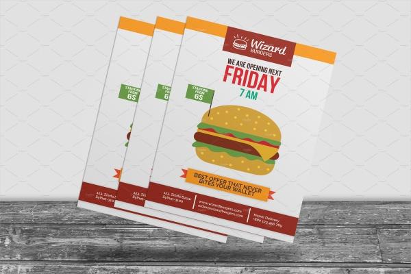 A4 Design Fast Food Flyer