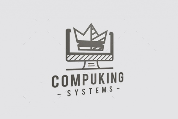Abstract Computer King Logo