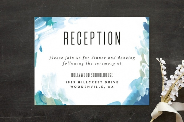 Abstract Watercolor Reception card
