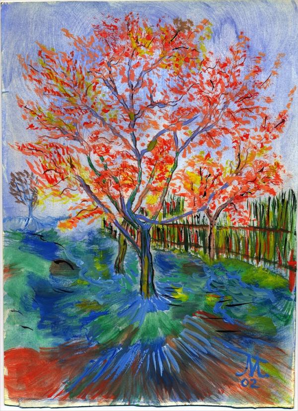 Acrylic Tree Painting