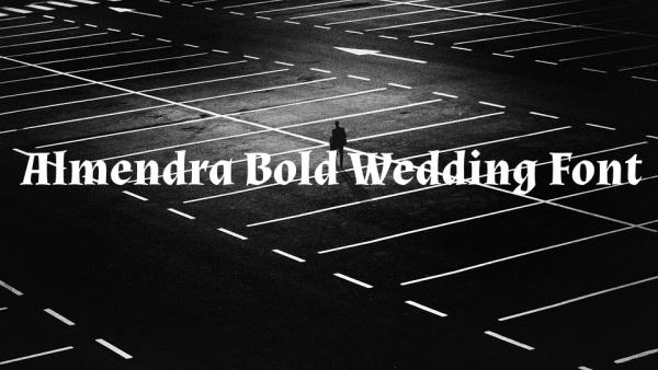 almendra bold wedding font