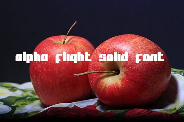 Alpha Flight Solid Font