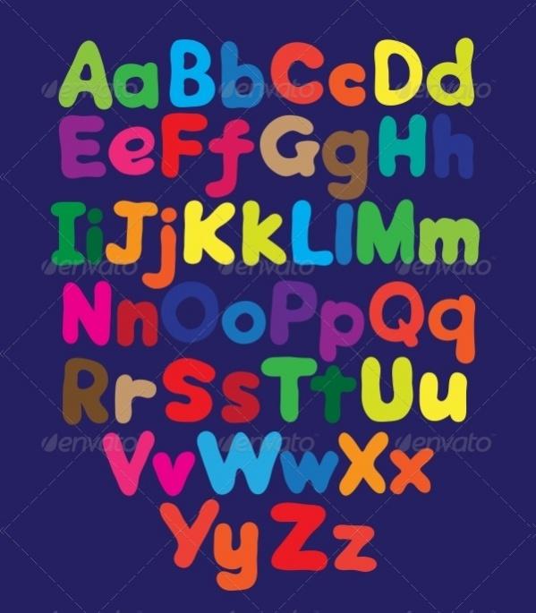 Alphabet Bubble Letters