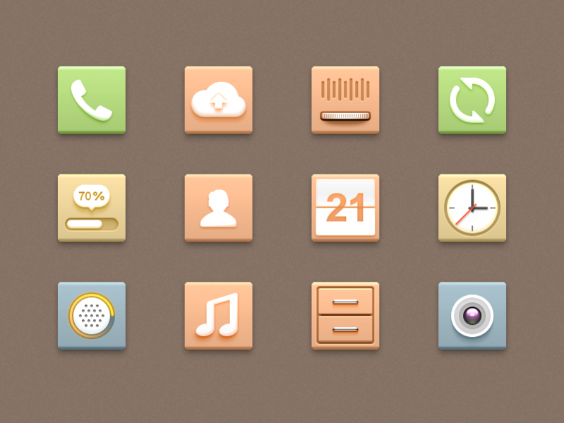android music icons