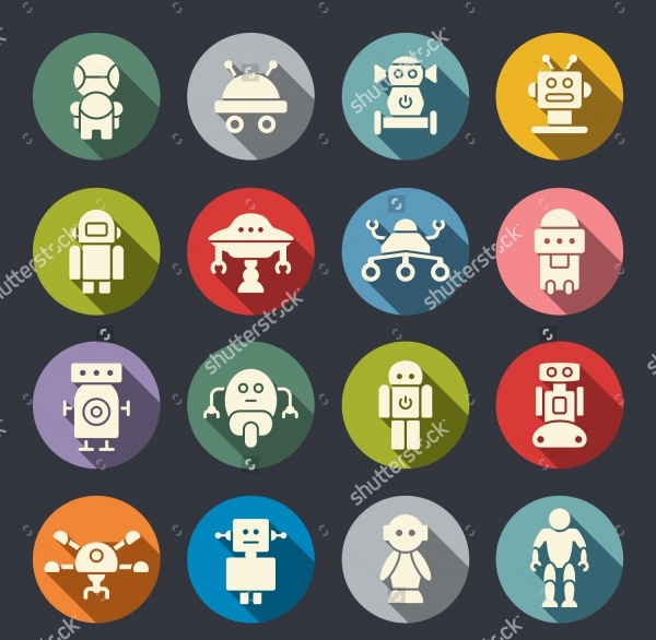 android robot icons
