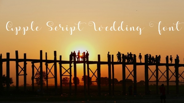 apple script wedding font