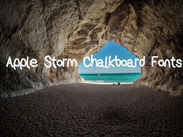 Apple Storm Chalkboard Fonts