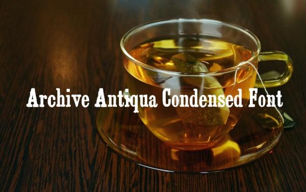 Archive Antiqua Extra Condensed Font