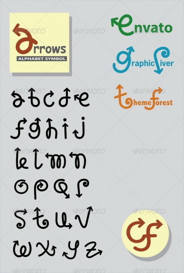 arrows-alphabet-font