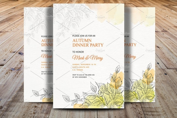 Autumn Party Invitation
