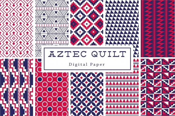 Aztec Quilt Background Pattern