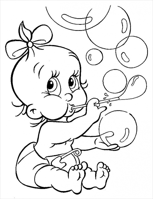 baby disney coloring page