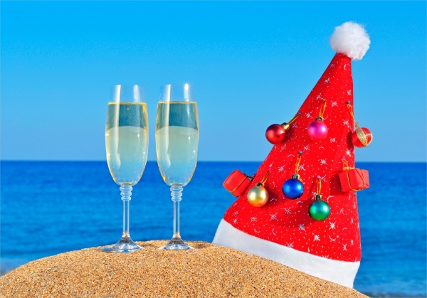 Beach Christmas Backgrounds