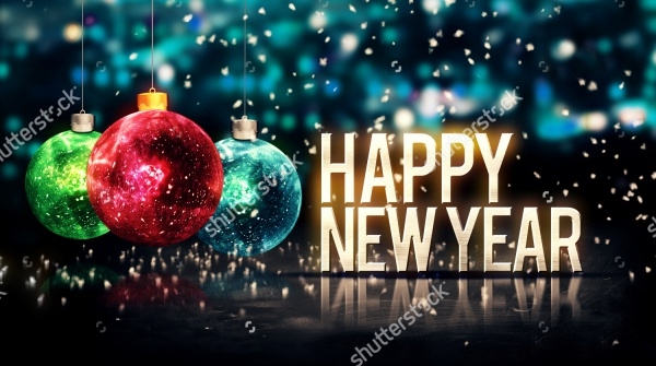 Beautiful 3D Bokeh New Year Greetings