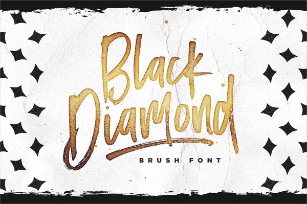 Beautiful Swiggity Font Black Diamond Brush Font