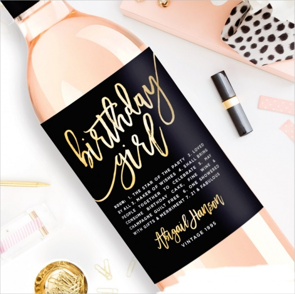 Birthday Wine Label