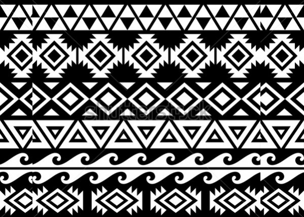 Black And White Tribal Pattern