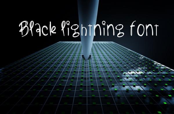 Black Lightning Font Download